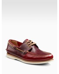 Frye | Brown Sully Boat Shoes for Men | Lyst