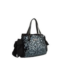 Juicy Couture | Black Star Shine Sequin Velour Shoulder Bag | Lyst