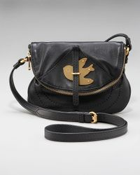 Marc By Marc Jacobs | Black Petal To The Metal Flap Pouchette | Lyst