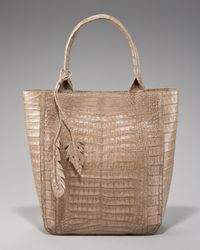 Nancy Gonzalez | Brown Crocodile Leaf Tote | Lyst
