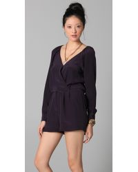 Rory Beca - Black James Raglan Wrap Romper - Lyst
