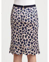 Tory Burch - Blue Meri Silk/bamboo Skirt - Lyst