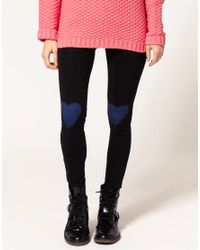 ASOS Collection - Black Asos Leggings with Heart Print - Lyst