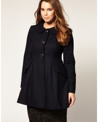 ASOS Collection | Blue Asos Curve Sugarland A-line Coat | Lyst