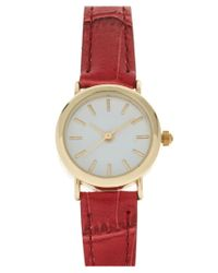 ASOS - Red Vintage Look Round Dial Watch - Lyst