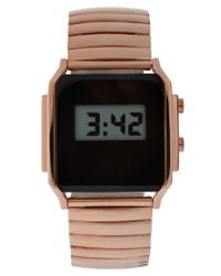 ASOS Collection | Metallic Asos Retro Style Digital Watch | Lyst