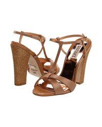 Badgley Mischka | Natural Jenie Sandal Heels | Lyst