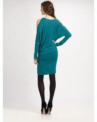 BCBGMAXAZRIA | Green Camira Knit Slit Dolman-sleeve Dress | Lyst