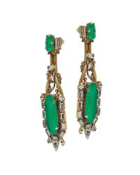 Erickson Beamon | Green Bette Davis Earrings | Lyst