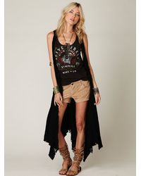 Free People | Black Maxi Godet Vest | Lyst