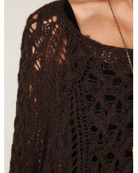 Free People | Green Open Stitch Sweater | Lyst
