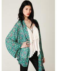 Free People | Multicolor Printed Kimono | Lyst
