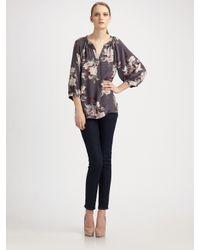 Joie | Multicolor Nikara Silk Floral Blouse | Lyst