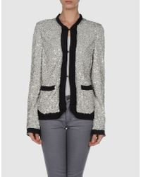 Lanvin | Gray Jacket with Sequins | Lyst