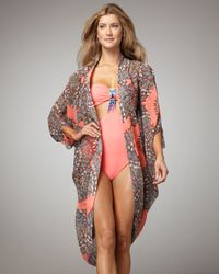 Mara Hoffman | Pink Printed Silk Coverup | Lyst