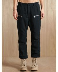 Nonnative | Black Mens Wool Blend Cropped Hunter Trousers for Men | Lyst