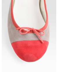 Repetto   Pink Flora Two-tone Suede Ballet Flats   Lyst