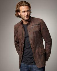 Royal Underground | Brown Button/zip Leather Jacket for Men | Lyst
