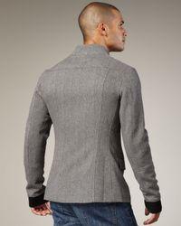 Royal Underground - Gray Asymmetric Zip Jacket for Men - Lyst