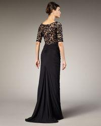 Tadashi Shoji | Black Lace Bodice Gown | Lyst