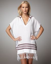 Tory Burch | White Beach Poncho Coverup | Lyst