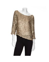 VINCE | Metallic Sequin Cluster Slouchy Top | Lyst