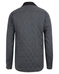 Barbour | Gray Moreston Charcoal Quilted Shirt for Men | Lyst