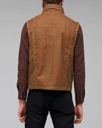 Filson | Brown Eastlake Waxed Vest for Men | Lyst