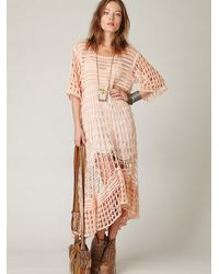 Free People - Pink Fp New Romantics Crochet Variety Dress - Lyst