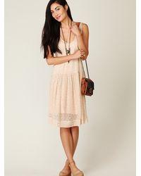 Free People | Multicolor Sheer Tea Length Tank Dress | Lyst
