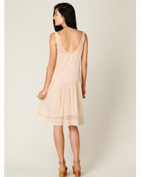 Free People | Multicolor Sheer Tea Length Tank Dress | Lyst