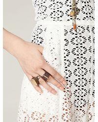 Free People - White Crochet Birkin Romper - Lyst