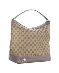 Gucci | Natural Beige Gg Canvas Bow Detail Tote | Lyst