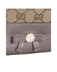 Gucci - Natural Beige Gg Canvas Bow Detail Tote - Lyst