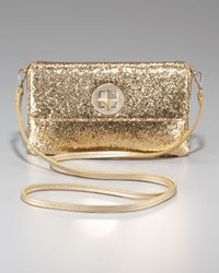 kate spade new york | Metallic Glitter Missy Clutch | Lyst