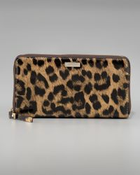 kate spade new york | Multicolor Leopard-print Lacey Wallet | Lyst