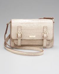 kate spade new york | Natural Crocodile-embossed Scout Crossbody Bag | Lyst