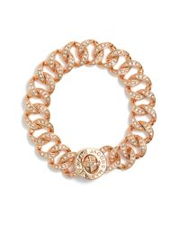 Marc By Marc Jacobs | Metallic Small Katie Boxed Pavé Turnlock Bracelet | Lyst