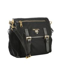 Prada | Black Nylon Mini Messenger Bag | Lyst