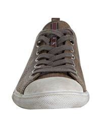 Prada - Gray Sport Smoke Perforated Leather Cap Toe Sneakers for Men - Lyst