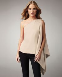 Robert Rodriguez | Natural One-shoulder Satin Top | Lyst