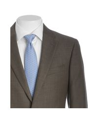 Tommy Hilfiger | Green Olive Sharkskin Wool Nathan 2-button Trim Fit Suit with Flat Front Pants for Men | Lyst