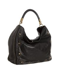 Saint Laurent | Black Leather Sac Roady Rock Studded Hobo | Lyst