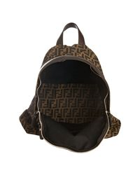 Fendi | Brown Tobacco and Chocolate Zucca Nylon Backpack for Men | Lyst