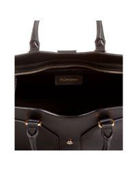 Saint Laurent - Black Leather Cabas Chyc Top Handle Bag - Lyst