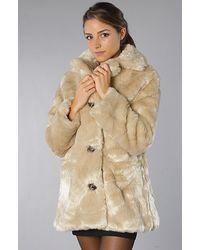 MINKPINK - Natural Double Agent Fur Coat - Lyst