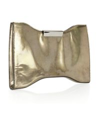 Alexander McQueen | Metallic Squeeze It Metal-effect Leather Clutch | Lyst