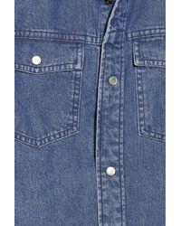 A.P.C. - Blue Denim Shirt - Lyst