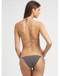 Chloé | Brown Double Tie String Bikini Swimsuit | Lyst
