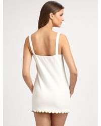 Chloé - White Scalloped Edge Swim Cover-up - Lyst